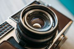 Fuji vintage camera Royalty Free Stock Image