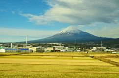 Fuji on the way Royalty Free Stock Photo