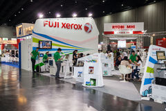Fuji xerox booth Stock Image