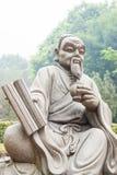 FUJIAN, CHINA - 23 de dezembro de 2015: Estátua do Lu Yu no chá grande da vista imagens de stock