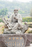 FUJIAN, CHINA - Dec 23 2015: Lu Yu Statue at The Grand View Tea. Garden. a famous Tourist spot in Anxi, Fujian, China Stock Images