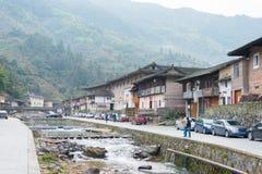 FUJIAN, CHINA - Jan 02 2016: Taxia Village at Tianloukeng Tulou Stock Photos