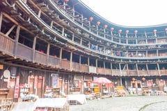 FUJIAN, CHINA - Jan 03 2016: Yuchanglou at Tianloukeng Tulou Sce Stock Images