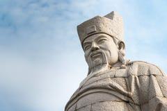 FUJIAN, CHINE - 29 décembre 2015 : Cai Xiang Statue au pont de Luoyang Photographie stock libre de droits