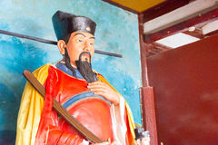 FUJIAN, CHINE - 29 décembre 2015 : Cai Xiang Statue chez Cai Xiang Templ Photos stock