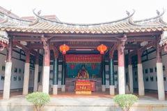 FUJIAN, CHINE - 29 décembre 2015 : Cai Xiang Temple un historique célèbre Photographie stock libre de droits