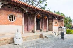 FUJIAN, CHINE - 29 décembre 2015 : Cai Xiang Temple un historique célèbre Image stock