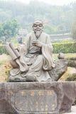 FUJIAN CHINY, Dec, - 23 2015: Lu Yu statua przy Uroczystą widok herbatą Obrazy Stock