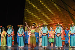 """Fujian fishermen-Dance drama """"The Dream of Maritime Silk Road"""". Dance drama """"The Dream of Maritime Silk Road"""" centers on the plot of two generations of a Royalty Free Stock Image"""