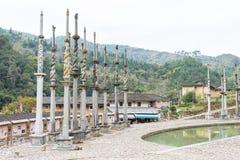FUJIAN KINA - Januari 02 2016: Deyuan Ancestral Temple (Deyuantang) Arkivbilder