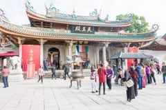 FUJIAN KINA - Januari 07 2016: Södra Putuo tempel (den Nanputuo templet) Royaltyfri Fotografi