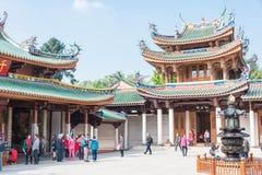 FUJIAN KINA - Januari 07 2016: Södra Putuo tempel (den Nanputuo templet) Royaltyfria Bilder