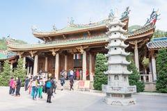 FUJIAN KINA - Januari 07 2016: Södra Putuo tempel (den Nanputuo templet) Arkivfoto