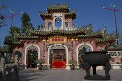Fujian tempel, Hoi An, Vietnam Royaltyfri Bild