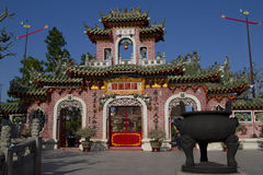 Fujian Temple, Hoi An, Vietnam. Fujian (Phuc Kien) Assembly Hall built around 1690 is a traditional assembly hall dedicated to Thien Hau, the goddess of the sea Royalty Free Stock Image