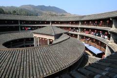 Fujian tulou Fotografering för Bildbyråer