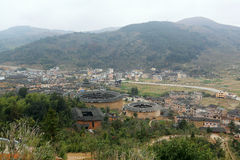 Fujian Tulou in China. Old building overview Stock Photography