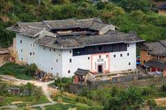 Fujian Tulou: Chinese Traditionele Huizenbinnenplaats royalty-vrije stock afbeeldingen