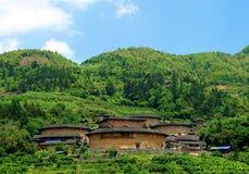 Fujian Tulou - costruzioni tradizionali cinesi Immagini Stock Libere da Diritti