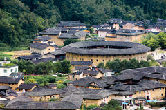 Fujian Tulou i det Yongding landet Arkivbilder