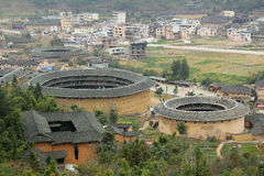 Fujian Tulou i Kina Royaltyfri Foto