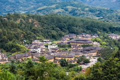 Fujian Tulou no país de Yongding fotografia de stock