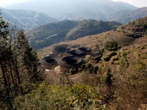 Fujian Tulou-special architecture of China. The Earth Tower of Hakka in Fujian, China whcih has over one thousand years history. In the past,  in order to Stock Photo