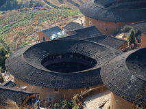 Fujian Tulou-special architecture of China Stock Image