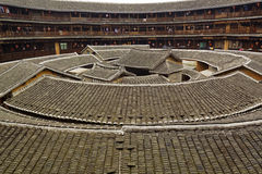 Fujian tulou. Tulou, traditional dwelling ethnic Hakka in Yongding, China Stock Image