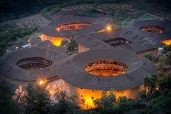 Fujian Tulou. Tuloufujian, Nanjing county, close to Xiamen city, Fujian province Royalty Free Stock Photo