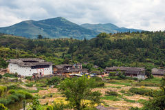 Fujian Tulou in Yongding Country. The ancient architectures are located at Yongding Country of Fujian Province in China. Fujian Tulou is one of the 36 World Royalty Free Stock Images