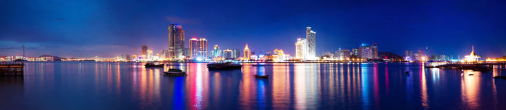 Fujian Xiamen night panorama Royalty Free Stock Photography