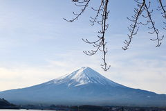 Fujiberg, de grote symmetrische berg Stock Afbeelding