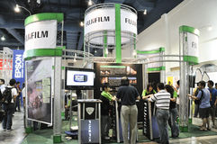 FujiFilm Booth at KLPF 2009 Royalty Free Stock Photography