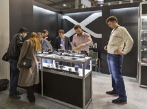 Fujifilm company booth at CEE 2015, the largest electronics trade show in Ukraine Royalty Free Stock Photos