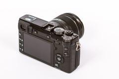 FUJIFILM X-E2 mirrorless camera with FUJINON LENS XF18-55mm F2.8-4 R. Photo of FUJIFILM X-E2 mirrorless camera with FUJINON LENS XF18-55mm F2.8-4 R LM OISfrom Stock Photography