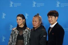 Fujii Mina, Kim Ki-duk en Lee Sung-jae in Berlinale 2018 Stock Foto's