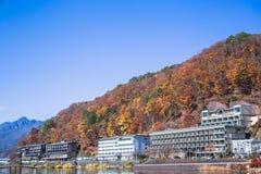 Lake Kawaguchi stock photo