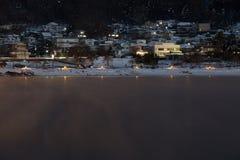 Fujikawaguchiko at night Royalty Free Stock Photography