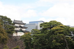 Fujimi keep of Edo castle in Tokyo Stock Images