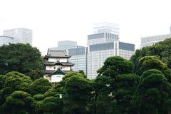 Fujimi-yagura en el palacio imperial de Tokio Imagen de archivo libre de regalías