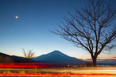 Fujisan at dusk Royalty Free Stock Photo