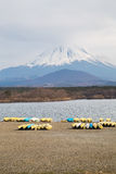 Fujisan e Shoji del lago Fotografia Stock
