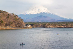 Fujisan e Shoji del lago Fotografia Stock Libera da Diritti