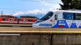 Fujisan Express at Kawaguchiko station Royalty Free Stock Photos
