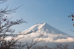 Fujisan Fuji mountain. Is a volcanic mount revered as sacred and inspirational,View of Mount Fuji, Japan stock images