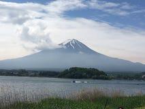 Fujisan. The great Mount Fuji seen from Lake Kawaguchi in Japan royalty free stock images