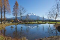 Fujisan at Lake Kawaguchiko. The most famous location for Fuji sightseeing is Fumotoppara Campground , Japan royalty free stock images