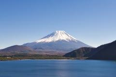 Fujisan at Lake Motosu. On 1000yen bank note stock photos