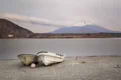 Fujisan and Lake Shoji Royalty Free Stock Image